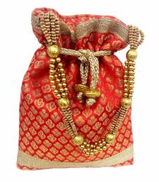 Buy Traditional Designer Potli with Beautiful dori potli-bag online