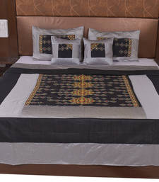 Buy Polysilk Rajwada Mirror work Bed Cover Set bed-sheet online