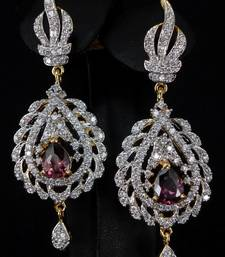 Buy Attractive CZ Ear ring danglers-drop online