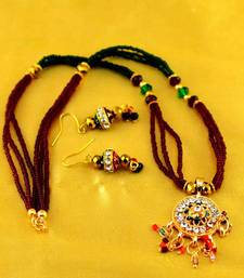 Buy moti mala mangalsutra with earing  mangalsutra online