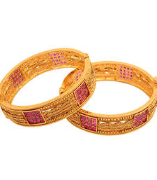 Buy Desirable Gold plated antique Bangle bangles-and-bracelet online