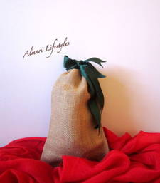 Buy Jute and Green plain bag potli-bag online