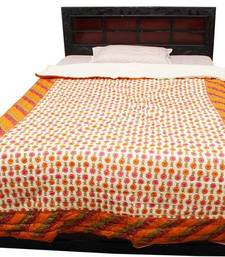 Buy multicolor printed cotton quilts quilt online