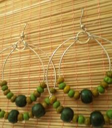 Buy Green Hoop Earrings-Aliff Lailaa-03059 hoop online
