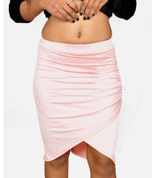 Buy Baby Pink Drapped Skirt - Raha Fashion Hub gifts-for-girlfriend online