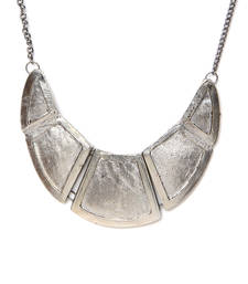 Buy Silver Chunks 3 pc Collar Necklace online