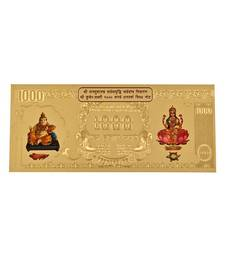 Buy Diwali Gifts - 24 Carat Gold Plated Dhanlaxmi Varsha Note diwali-decoration online