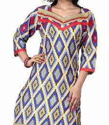 Buy Exclusive Designer cotton/Rayon printed Fancy Kurties kurtas-and-kurti online