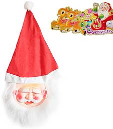 Buy Santa Claus Mask n Merry Christmas Greeting Card 111 christmas-decoration online