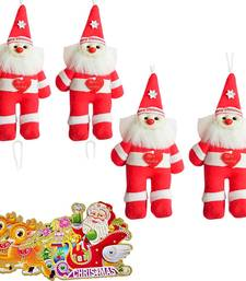 Buy Santa Claus Soft Toys n Xmas Greeting Card Gift 112 christmas-decoration online