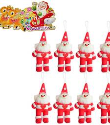 Buy Santa Claus 8 Pc. Set with Christmas Greeting Card 113 christmas-decoration online