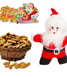 Buy Cute Santa Claus Toy n 200gm Almond Christmas Gift 126 christmas-gift online