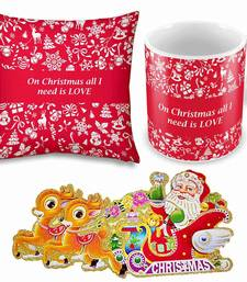 Buy Printed Quotes Red Cushion n Coffee Mug Pair christmas-gift online