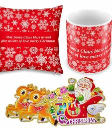 Buy Printed Quotes Design Cushion n Coffee Mug Pair christmas-gift online