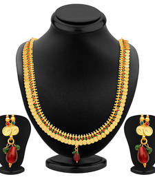 Buy Lavish Gold Plated Temple Jewellery Necklace Set necklace-set online