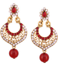 Buy Maroon Diamond danglers-drops danglers-drop online