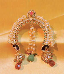 Buy peacock royal red green pearl hair pin hair-accessory online