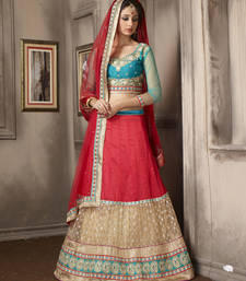Buy Ravishing Maroon Embroidered Lehenga Choli punjabi-lehenga online