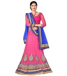 Buy Pink Embroidered Net Lehenga Choli With  Blouse lehenga-choli online