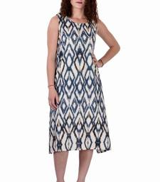 Buy Cotton Printed Blue Color  Dress other-apparel online