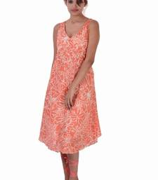Buy Cotton Printed Orange  Color Dress other-apparel online
