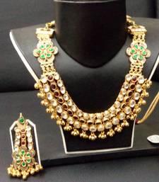 Buy silver jadtar Necklace online