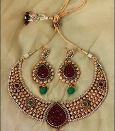 Buy Multi Color Choker Drop - nks65M necklace-set online