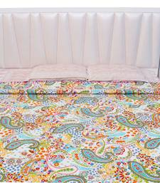 Buy Jaipuri Paisley Pattern Print Double Bed AC Blanket or Quilt - 113 quilt online