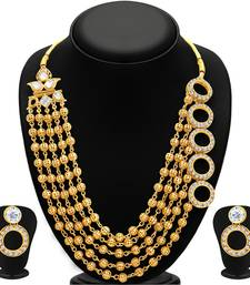 Buy Dazzling Gold Plated Necklace Set For Women necklace-set online