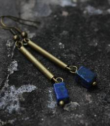 Buy Lapis Drop Earrings danglers-drop online