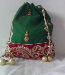 Buy HANDMADE POTLI BROCADE_60 potli-bag online