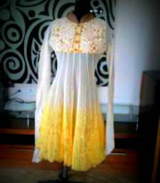 Buy kurti in yellow dress online