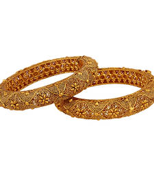 Buy Majestic Gold plated Antique Bangles bangles-and-bracelet online