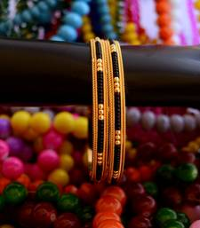 Buy Black bead bangle - 1 bangles-and-bracelet online