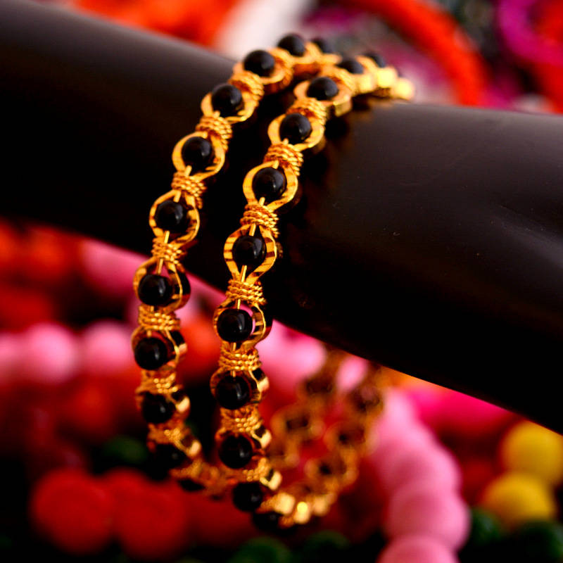 Buy Black Bead Bangles 9 Online