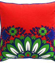 Buy Sparkling Green Blue Flower Cushion Cover pillow-cover online