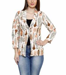 Buy FUSION MELA WOMEN'S PRINTED JACKET gifts-for-girlfriend online
