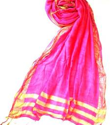 Buy Pink silk and cotton stole-and-dupatta online