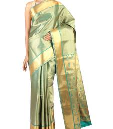 Buy green woven Silk saree with blouse silk-saree online