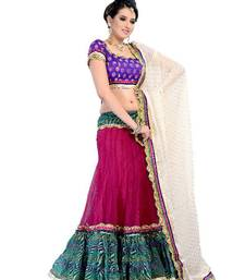 Buy Flamboyant 3 Piece Lehenga Choli by DIVA FASHION- Surat velvet-saree online