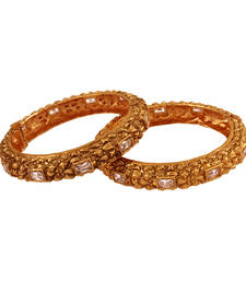 Buy Lovely Gold plated antique bangle bangles-and-bracelet online