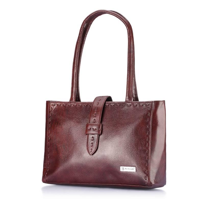 Buy Be Trendy Genuine Leather Brown Women Handbag Online