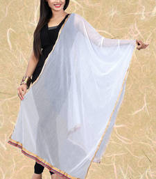 Buy White Lycra stole-and-dupattas stole-and-dupatta online
