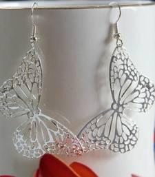 Buy Silver Filigree Butterfly Earring danglers-drop online