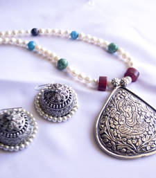 Buy Pendent Necklace Jumka necklace-set online