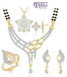Buy Sukkhi Radiant Gold & Rhodium Plated CZ jewellery-combo jewellery-box online