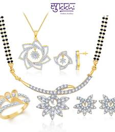 Buy Sukkhi Flower Blossom Gold & Rhodium Plated CZ jewellery-combo jewellery-box online