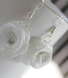 Buy Silver Rose Earring danglers-drop online