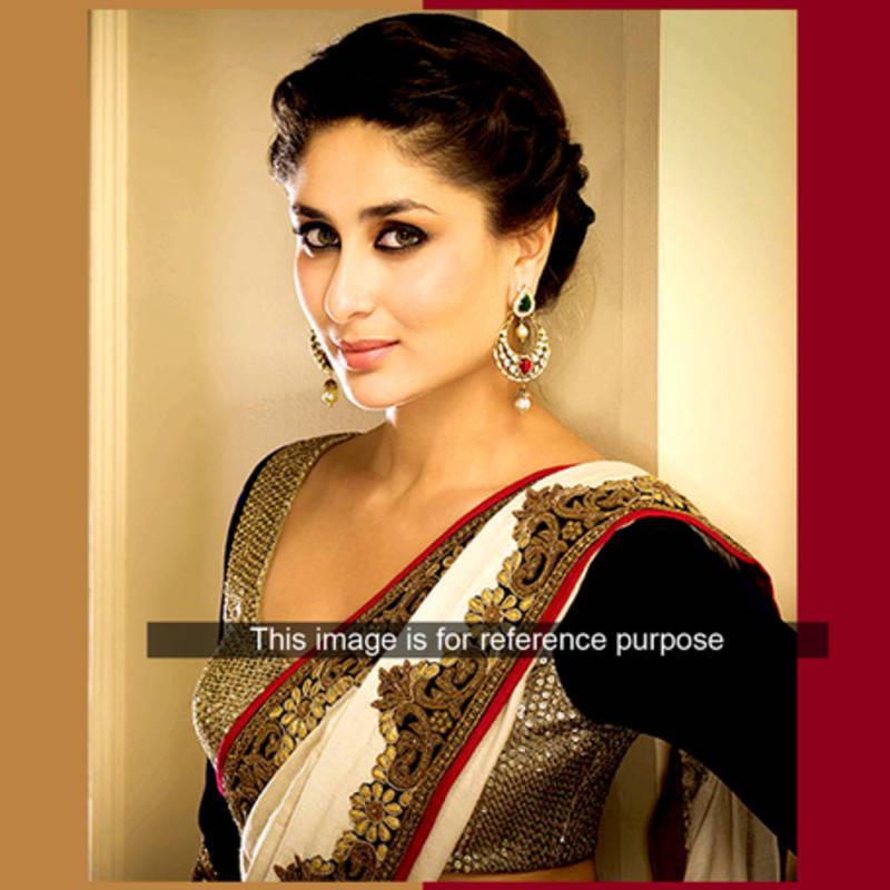 Buy Kareena Kapoor Cream Fancy Designer Stylish Saree Online