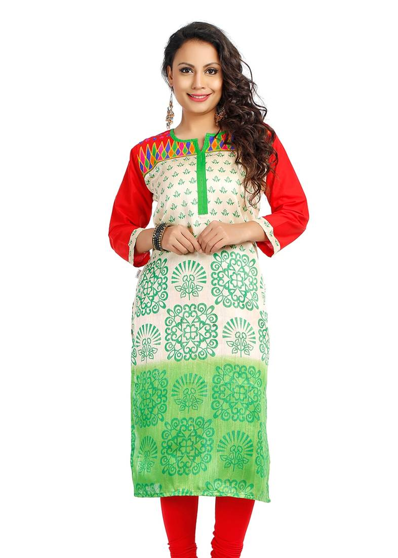 Buy embroidery casual kurti online